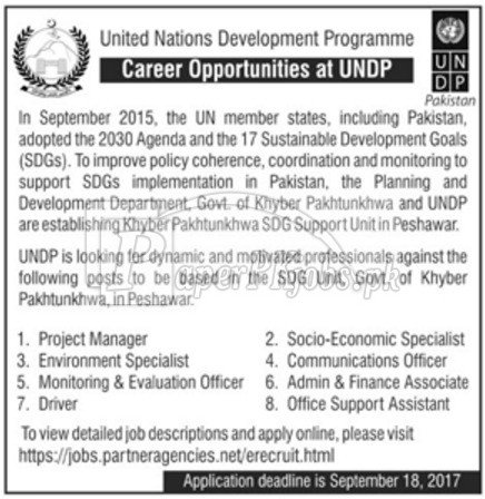 United Nations Development Programme UNDP Jobs 2017