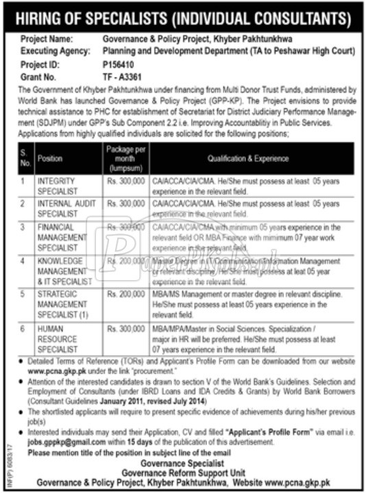 Governance & Policy Project KPK Jobs 2017