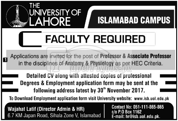 Anatomy Physiology Professor Jobs 23 November 2017 Archives