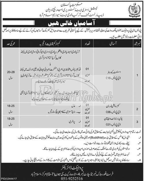Department of Archaeology & Museum Islamabad Jobs 2017