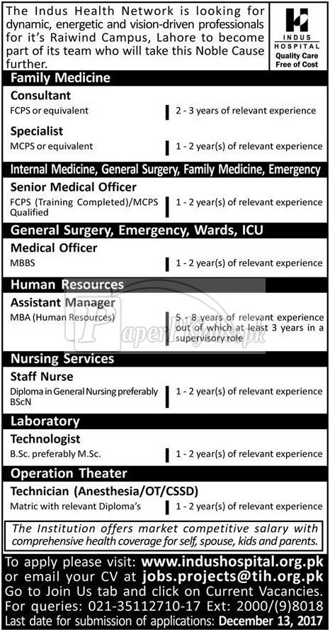 The Indus Health Network Jobs 2017
