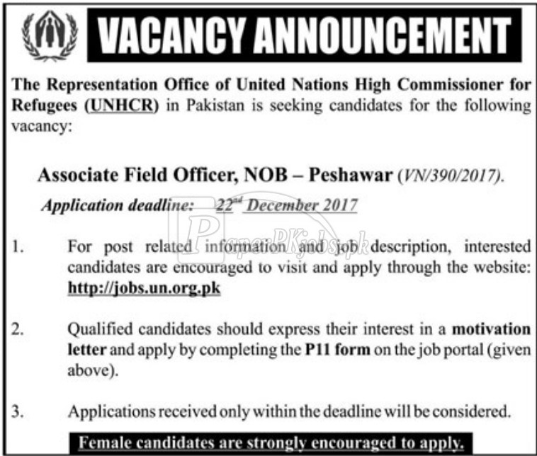 United Nations High Commissioner for Refugees UNHCR Jobs 2017