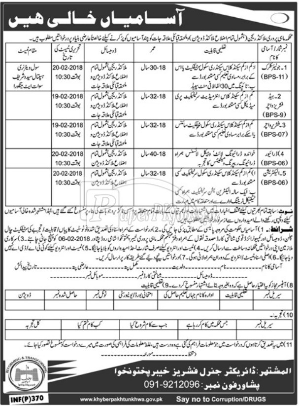 Fisheries Department Peshawar KPK Jobs 2018(2)