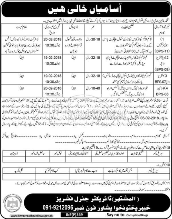 Fisheries Department Peshawar KPK Jobs 2018(3)