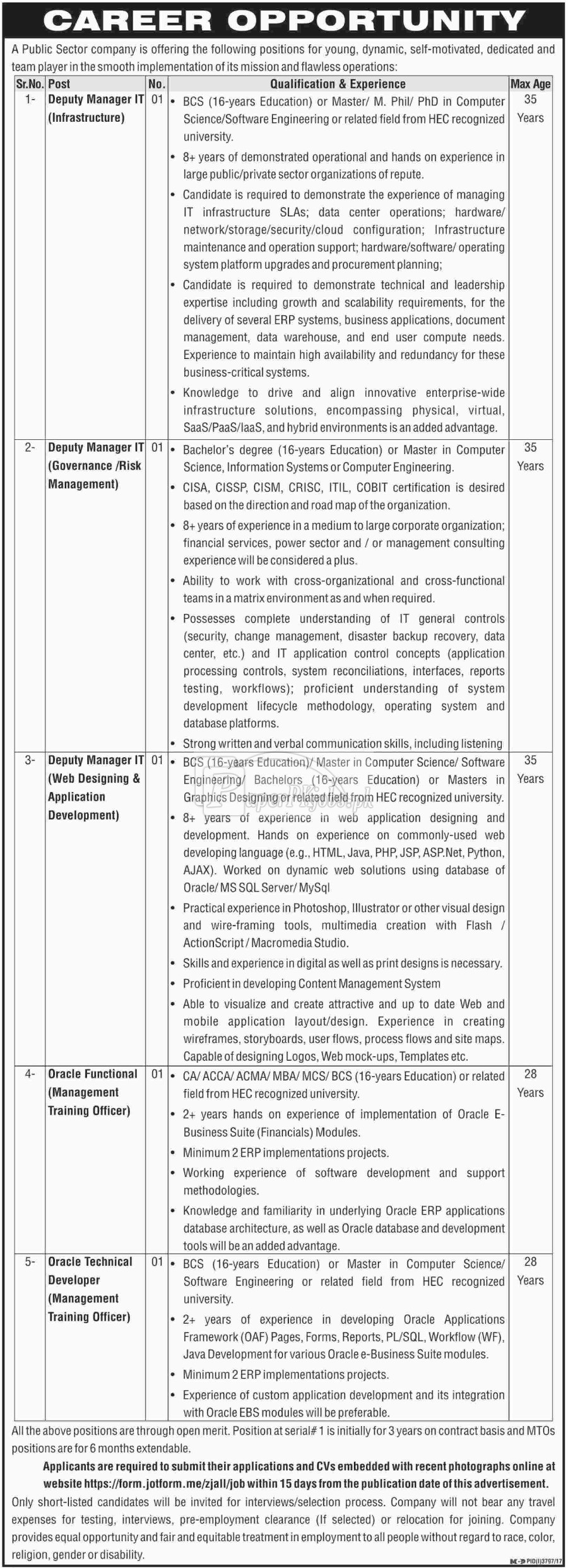Public Sector Organization Jobs 2018