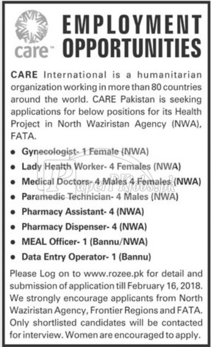 Care International NGO Jobs 2018