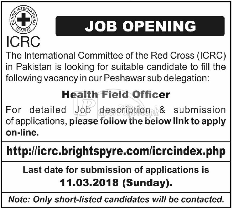 International Committee of the Red Cross ICRC Jobs 2018