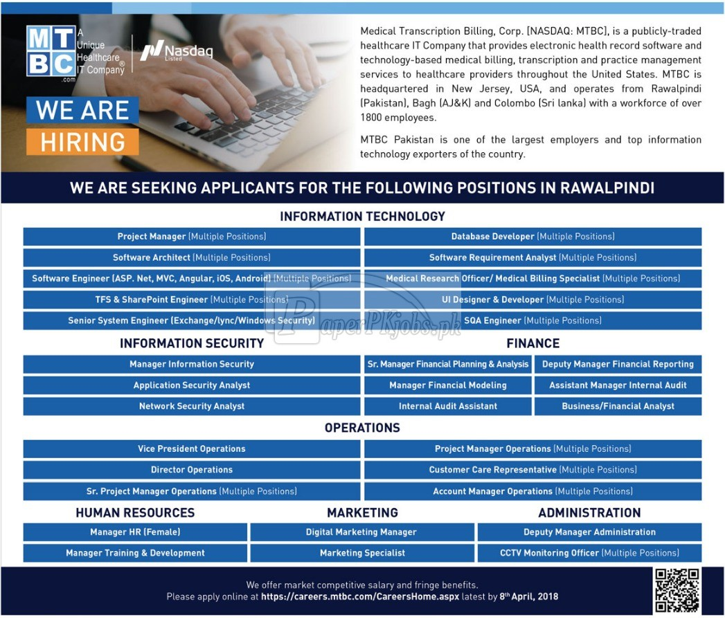 Medical Transcription Billing Corporation MTBC Jobs 2018