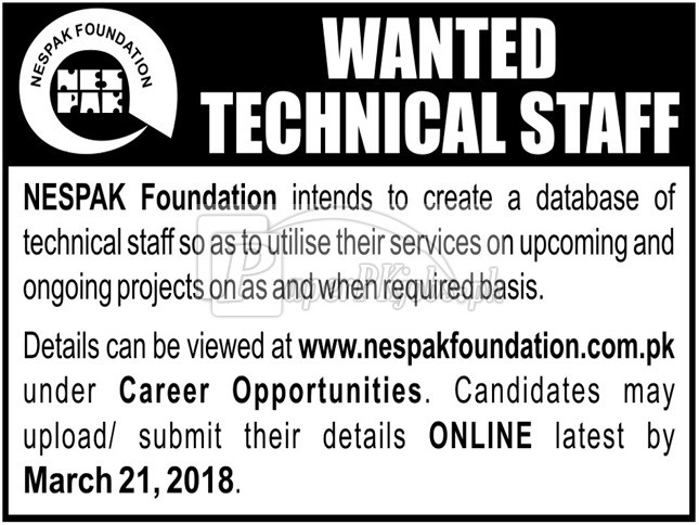 NESPAK Foundation Jobs 2018