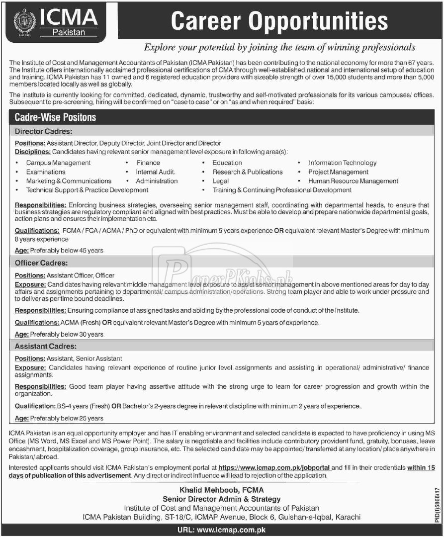 ICMA Pakistan Jobs 2018(1)