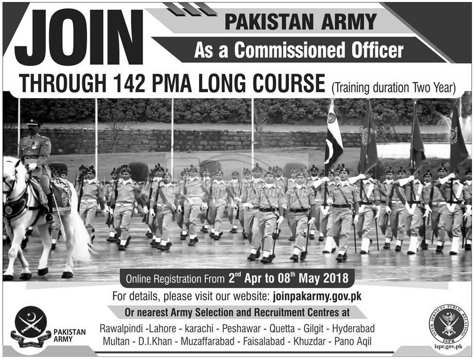 Join Pakistan Army as Commissioned Officer 2018