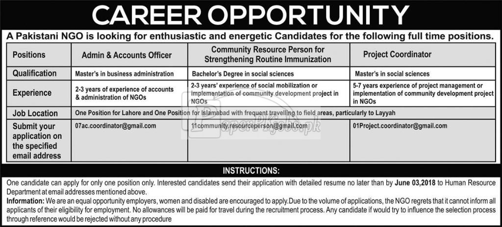 National NGO Jobs 2018(1)