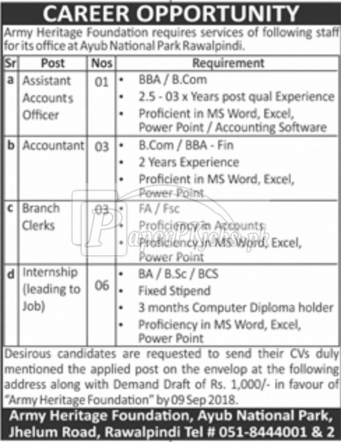 Army Heritage Foundation Jobs 2018