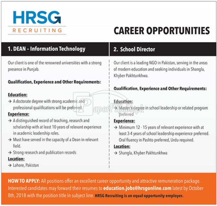 HRSG Recruiting Jobs 2018