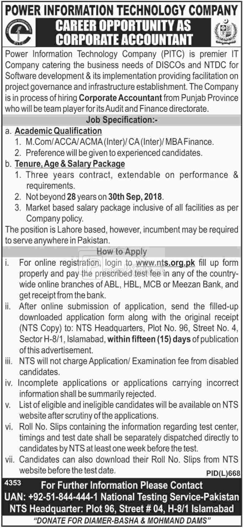 Power Information Technology Company PITC Jobs 2018