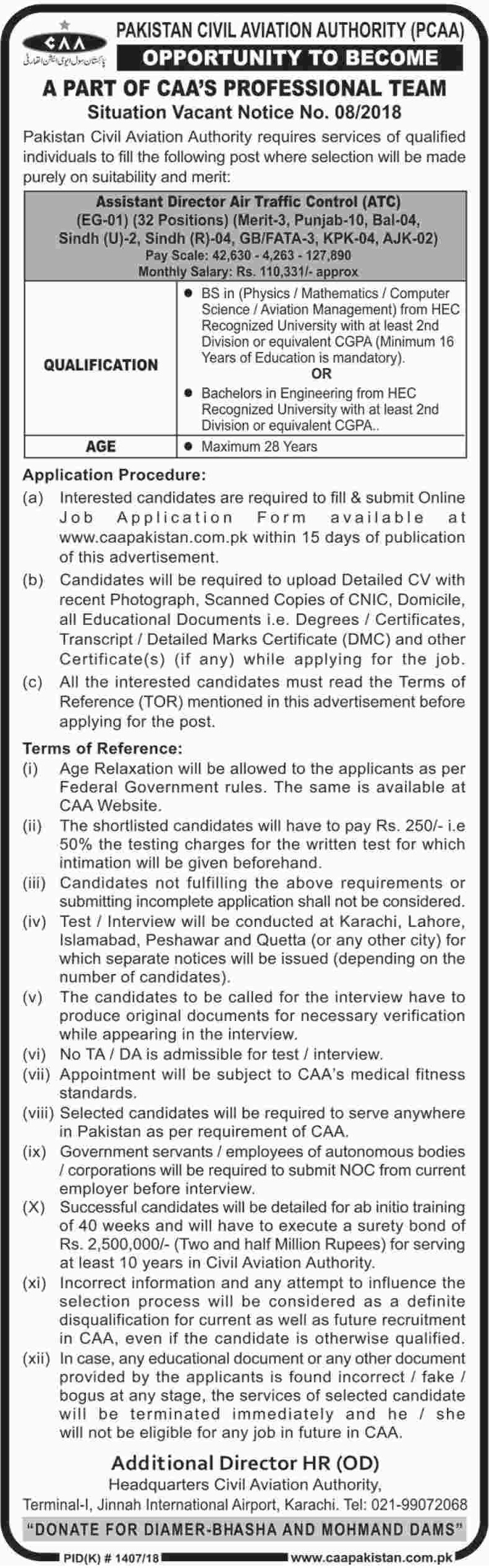 CAA Pakistan Civil Aviation Authority Latest Jobs 2018
