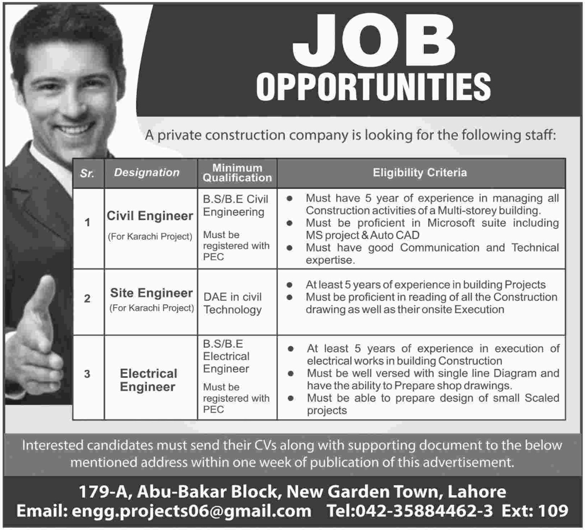 Construction Company Jobs Latest 2018