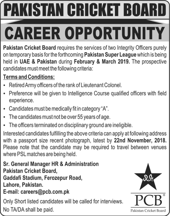 PCB Jobs Latest 7 November 2018