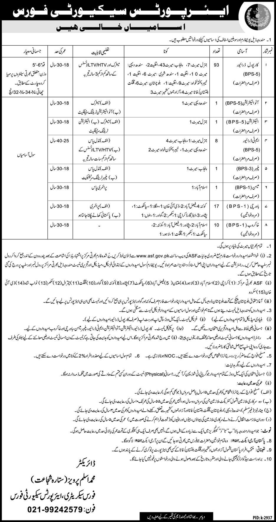 ASF Jobs 2019 Airports Security Force