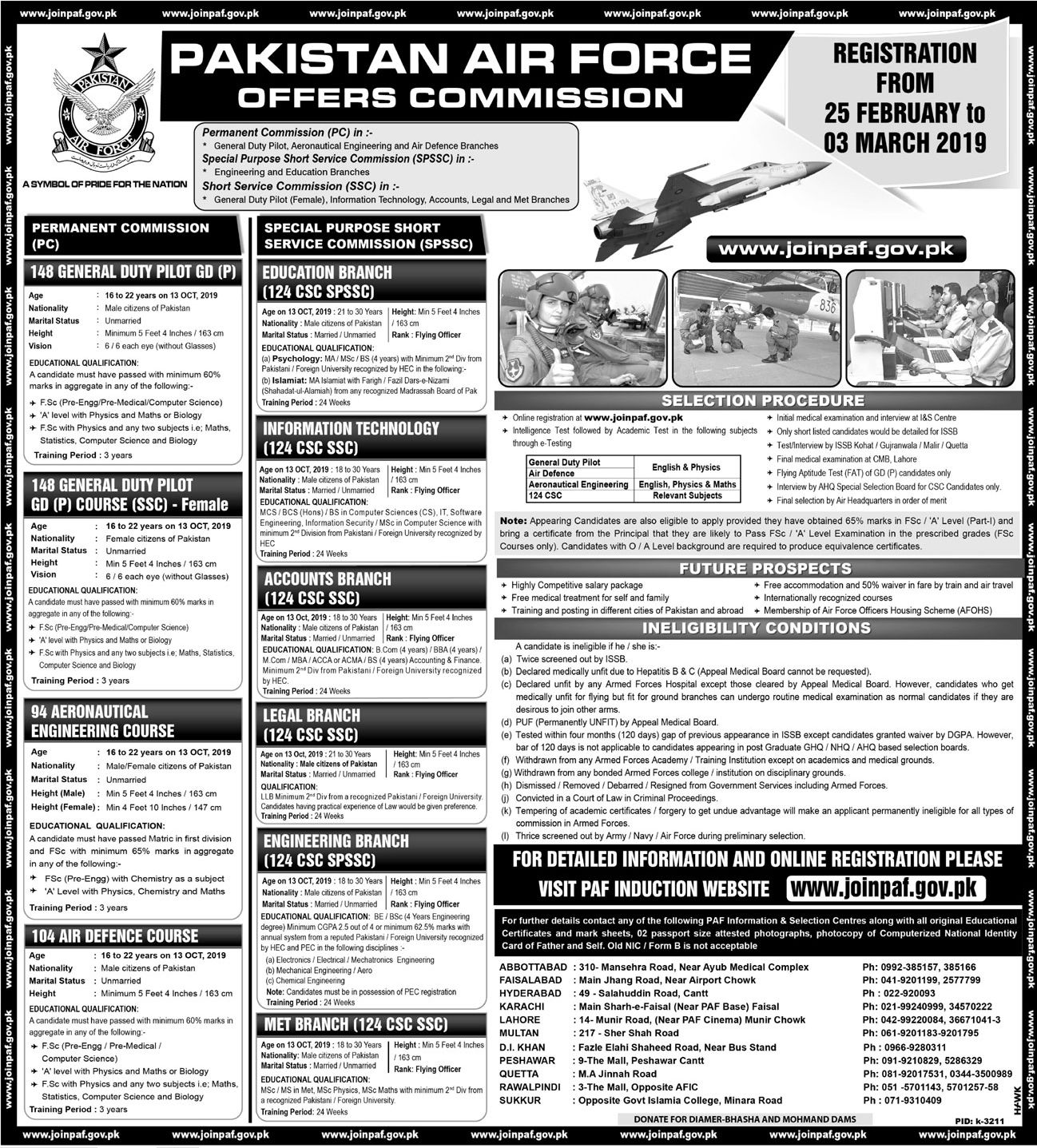 Join Pakistan Air Force 2019 PAF Latest