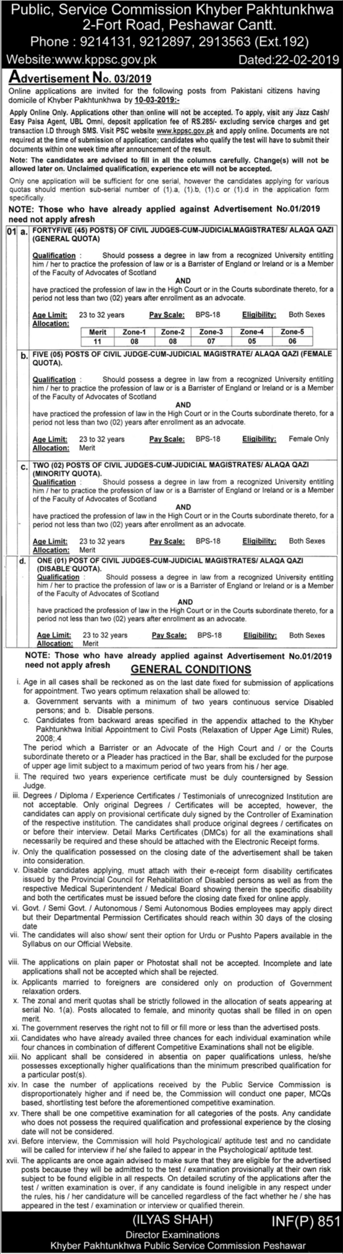 KPPSC Jobs 2019 Public Service Commission KPK
