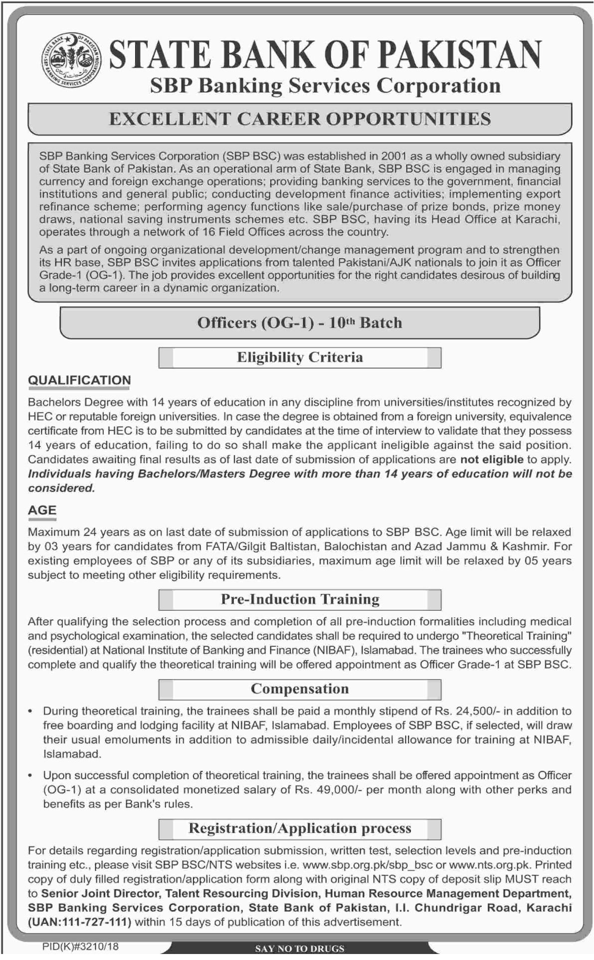 SBP Banking Services Corporation Jobs 2019