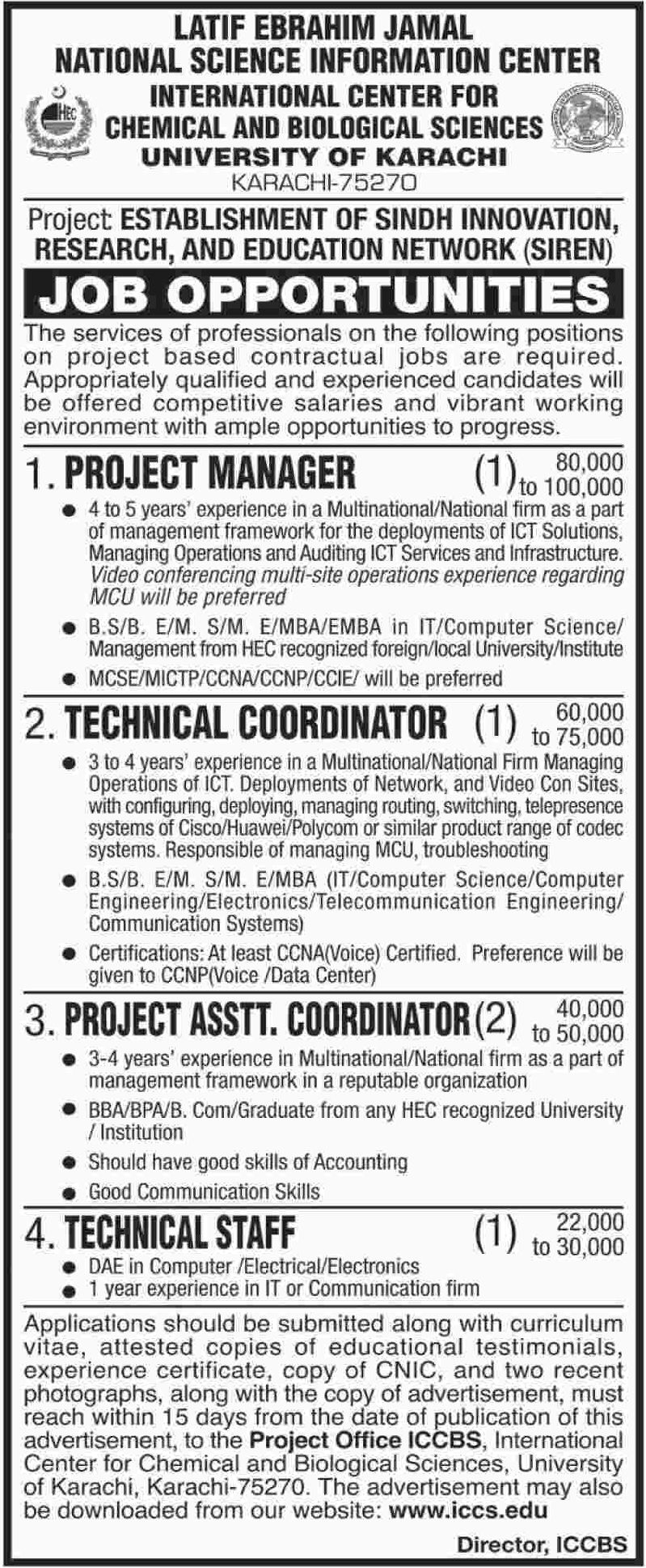 University of Karachi Jobs 2019 Sindh Pakistan