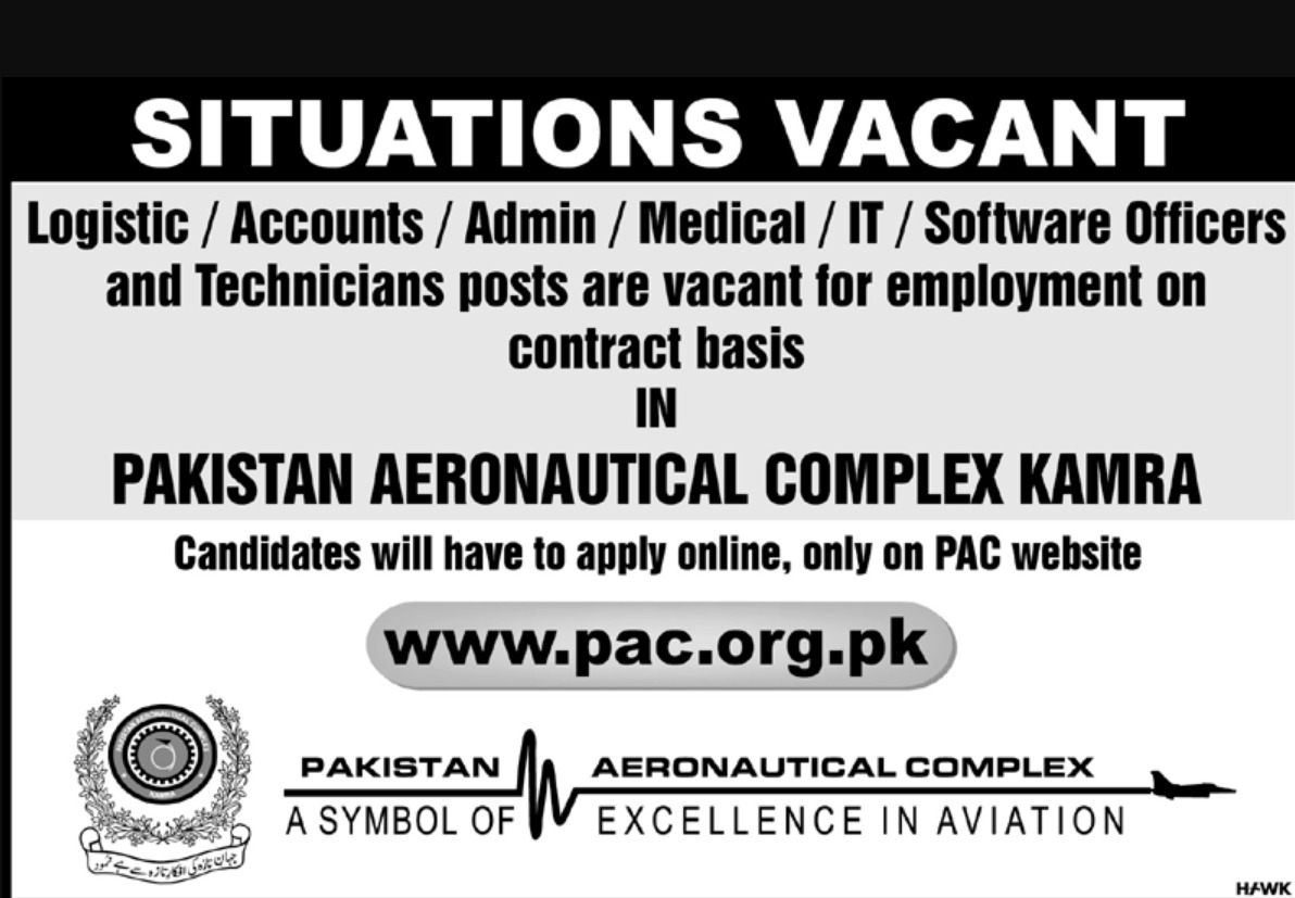 Pakistan Aeronautical Complex PAC Kamra Jobs 2019 Latest