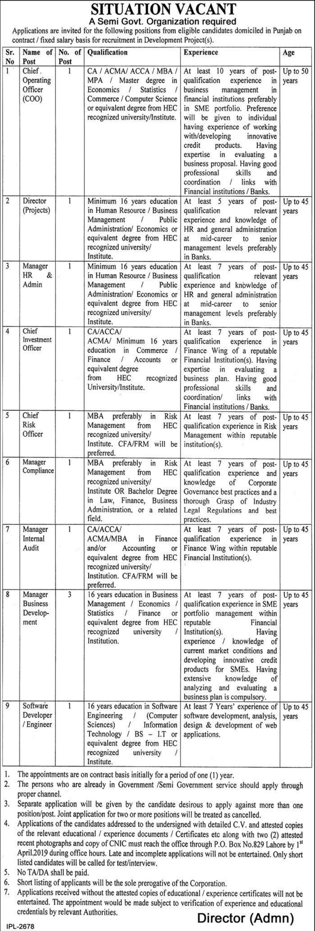 CMH Lahore Medical College & Institute of Dentistry Jobs 2019