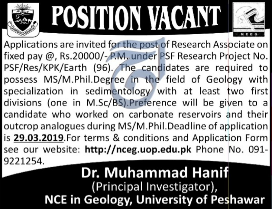 University of Peshawar Jobs 2019 KPK Latest