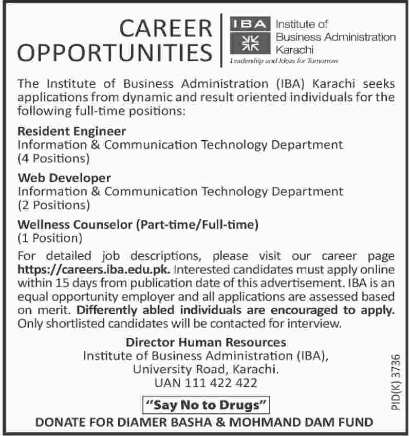Institute of Business Administration IBA Karachi Jobs 2019 Latest