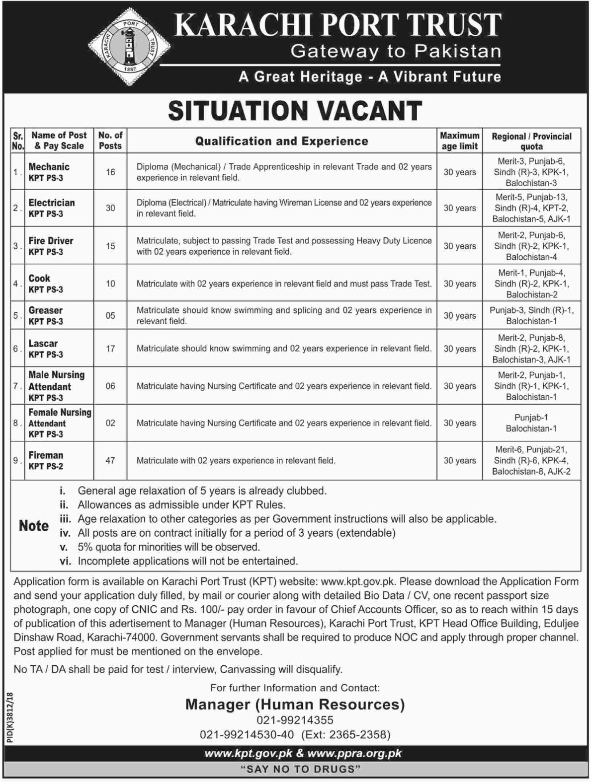 Karachi Port Trust KPT Jobs 2019 Latest
