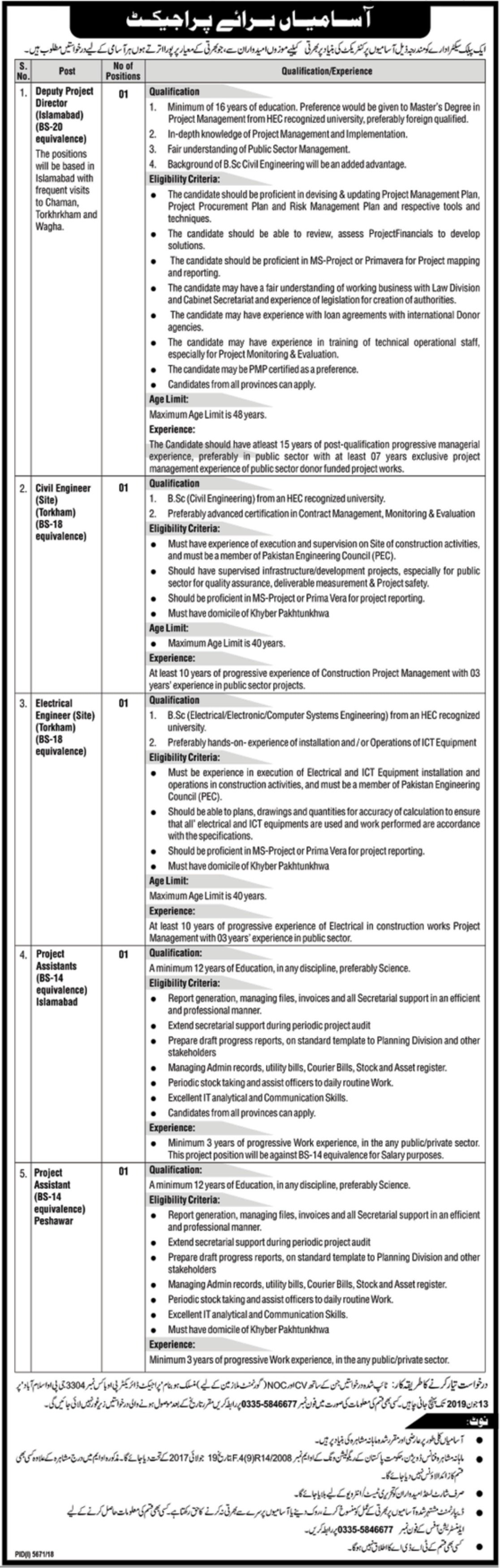 Public Sector Organization Jobs 2019 P.O.Box 3304 Islamabad