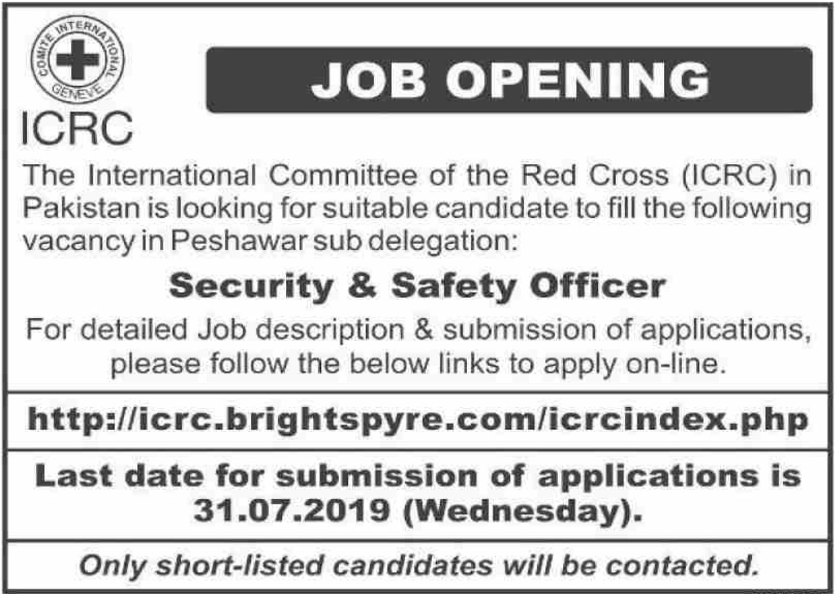 ICRC Peshawar Jobs 2019 Apply Online at Brightspyre
