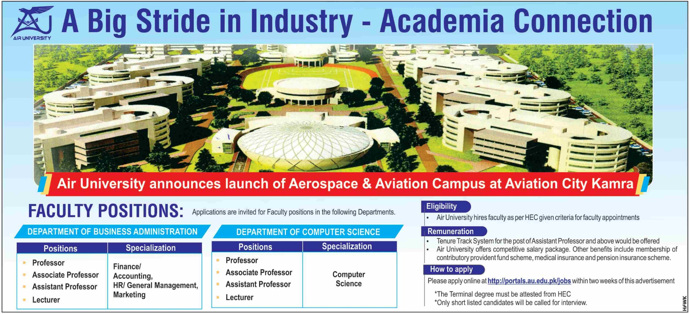 Air University Jobs 2019 Kamra Campus Apply Online
