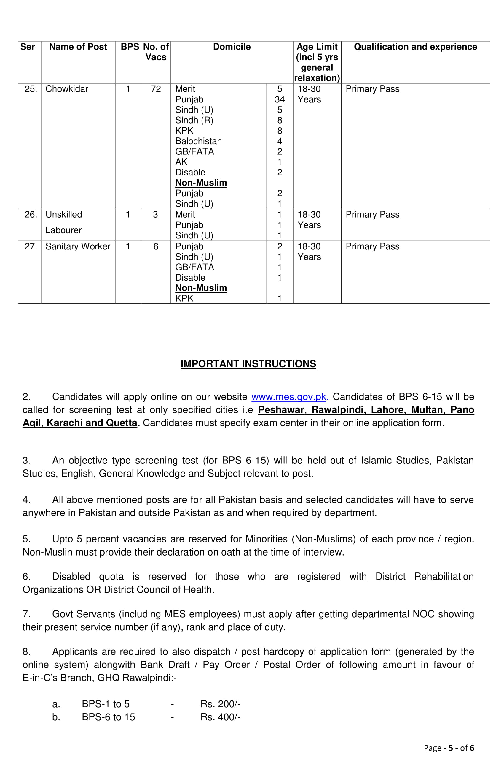 Military Engineer Services MES Jobs 2019 Apply Online
