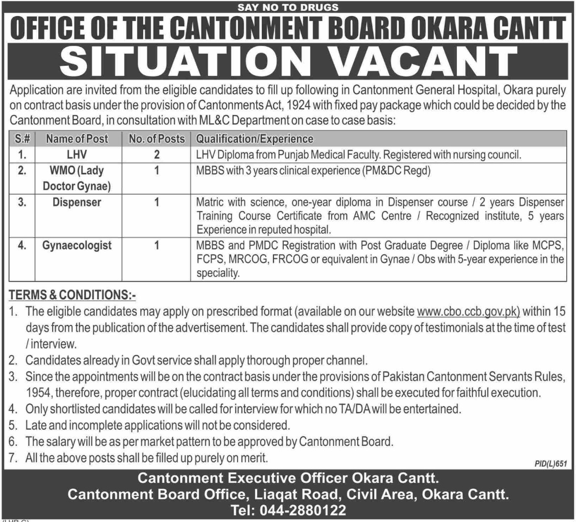 Cantonment-Board-Okara-Cantt-Jobs-2019-Application-Form Job Application Form University Of Sargodha on all department, it department, syndicate members, bba outline, red building, logo png, merit list,