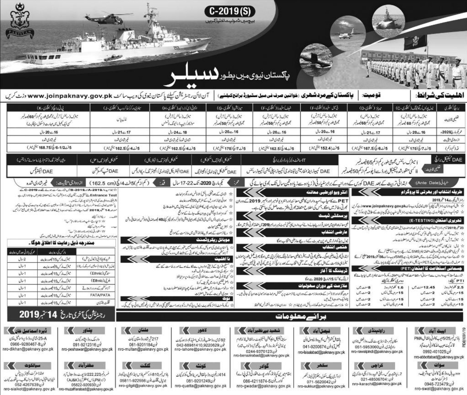 Pakistan Navy Jobs 2019 Join Pak Navy as Sailor 2019