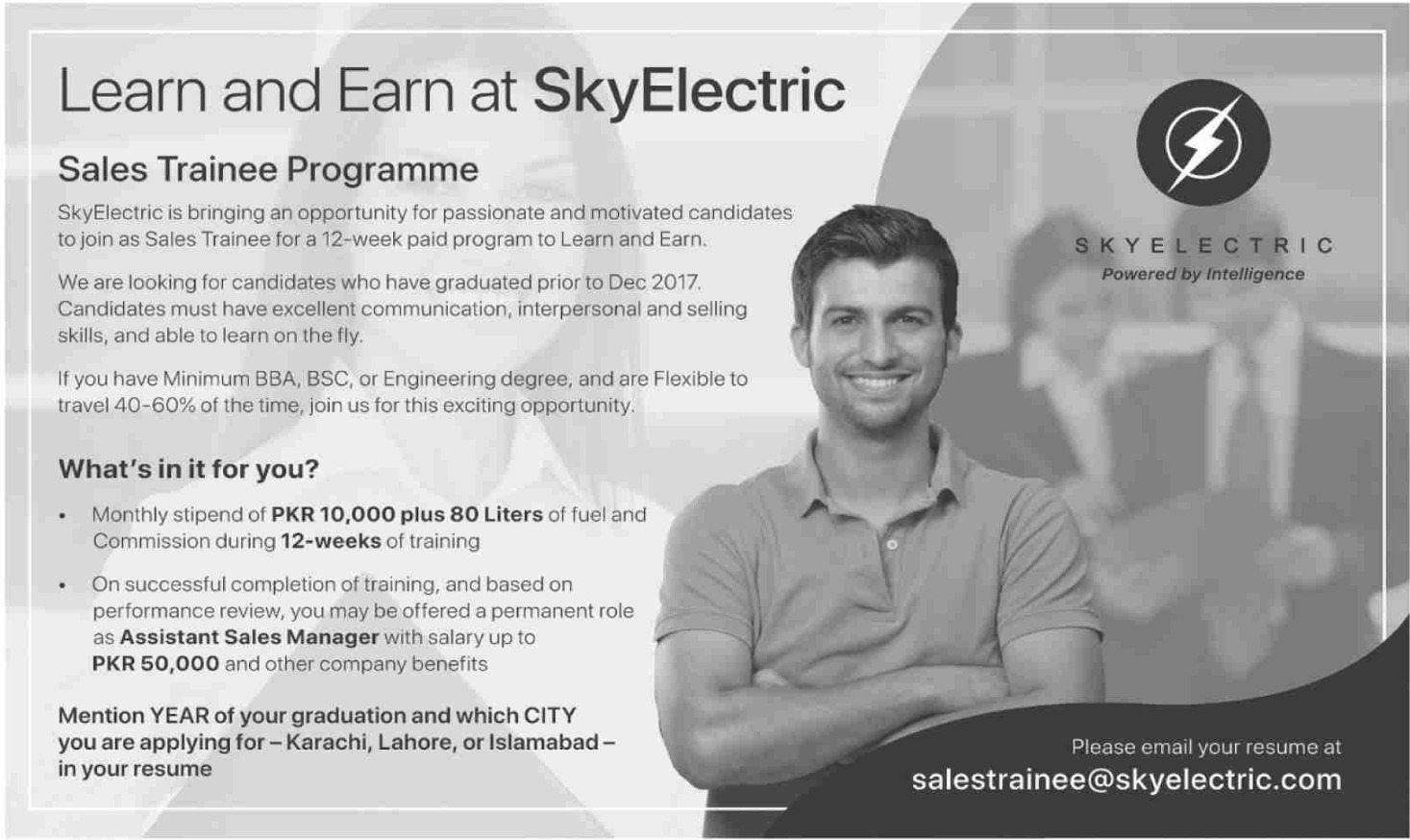 SkyElectric Jobs 2019 Sales Trainee Programme