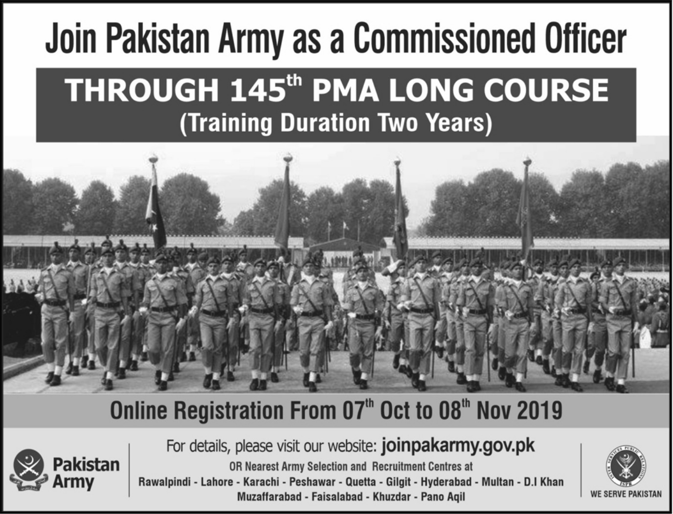 Join Pakistan Army as a Commissioned Officer 2019