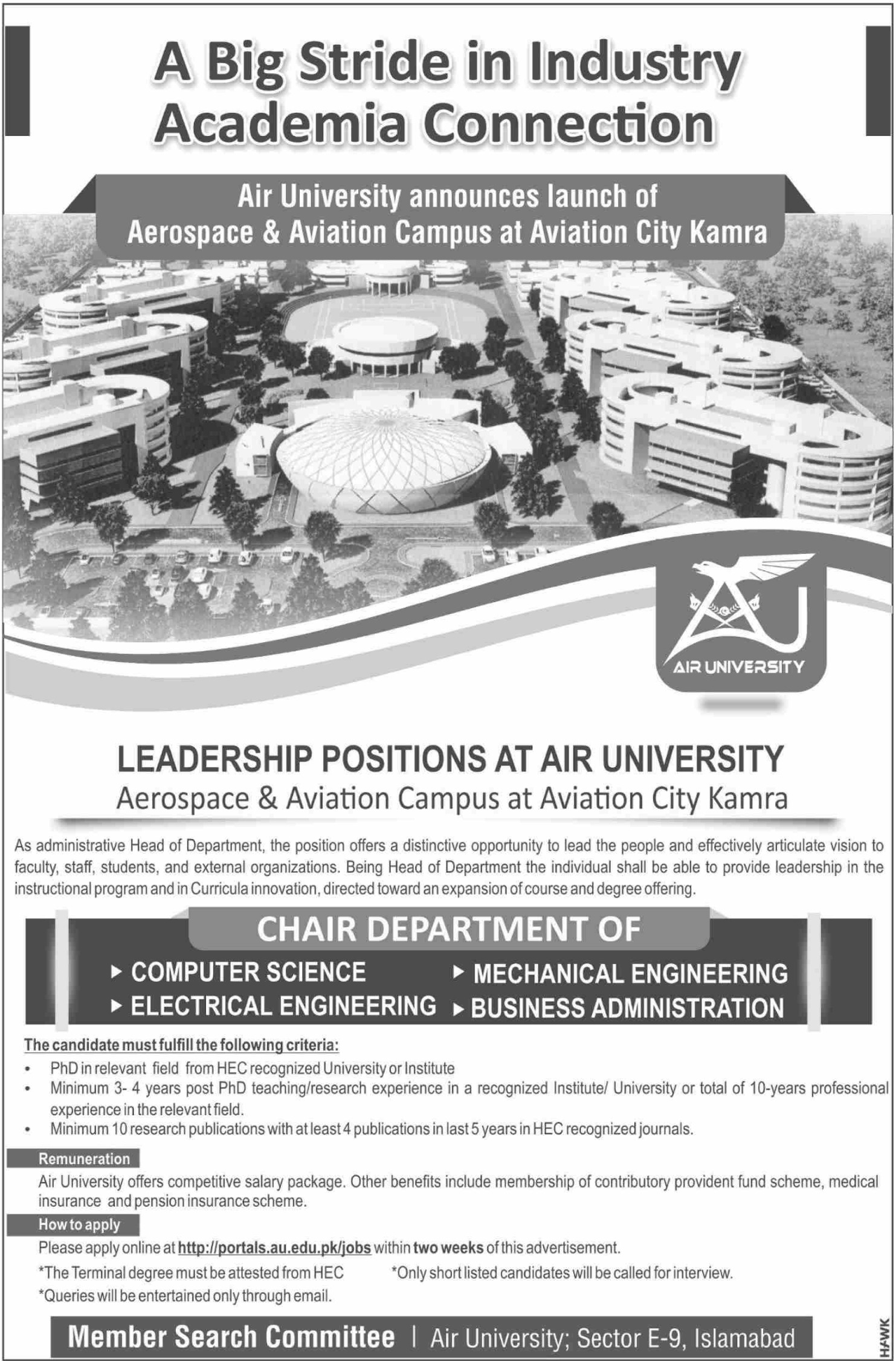 Air University Kamra Jobs 2019