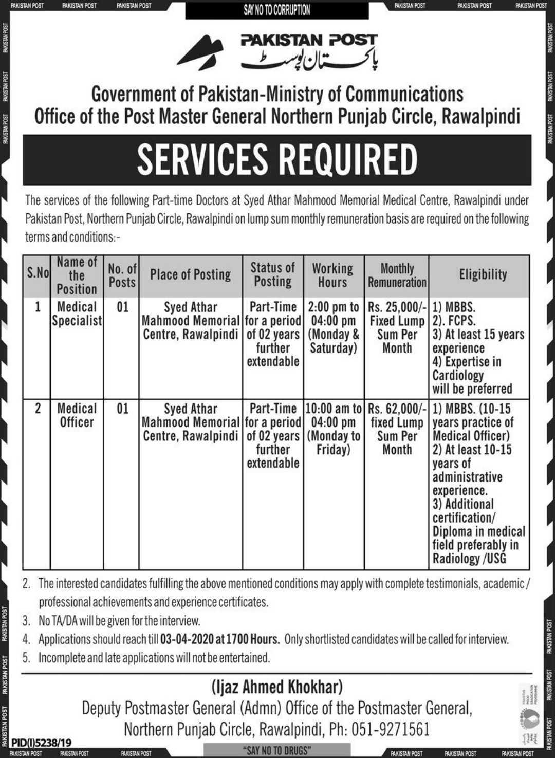 Ministry of Communications Jobs 2020