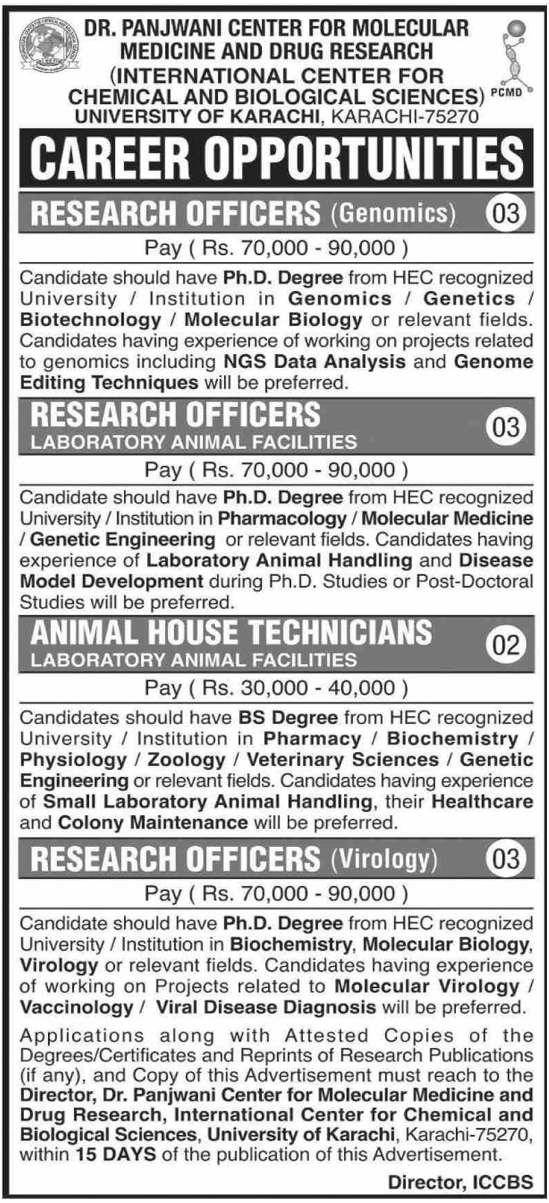University of Karachi Jobs October 2020