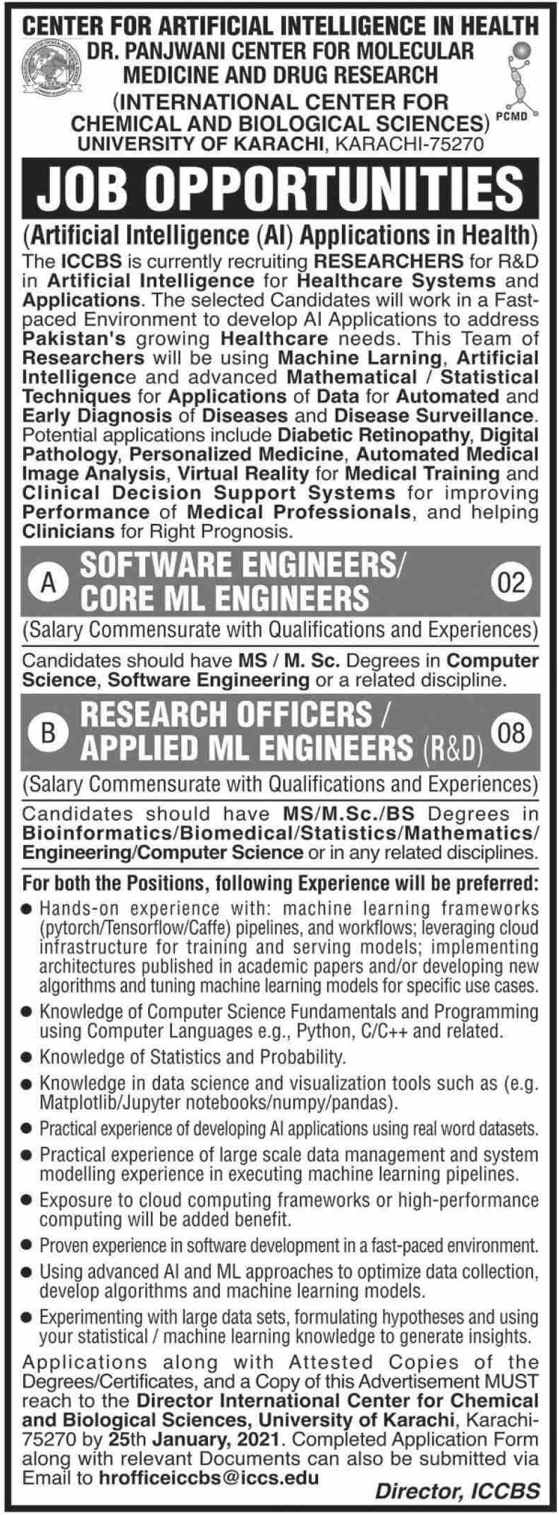 University of Karachi Jobs January 2021