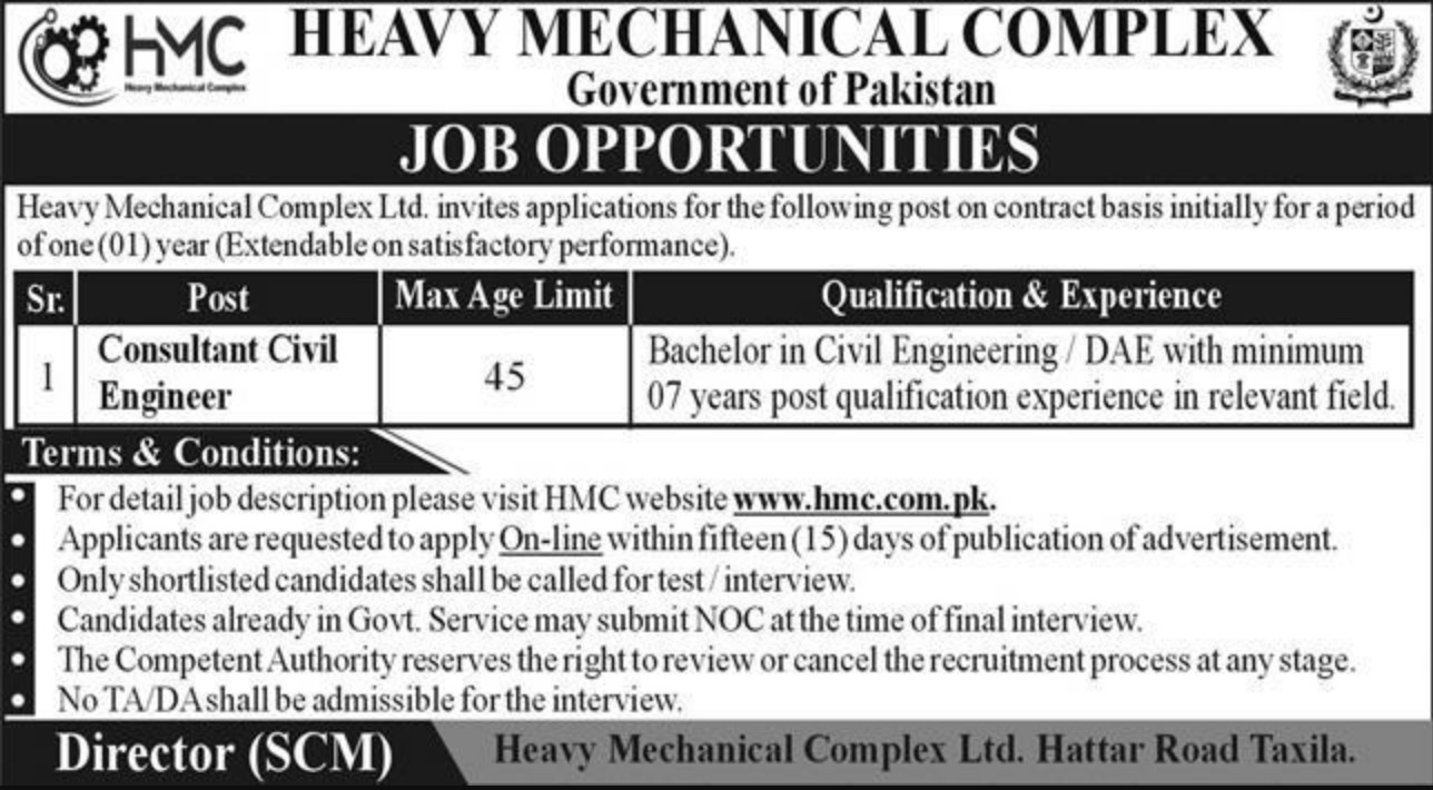Heavy Mechanical Complex HMC Jobs March 2021
