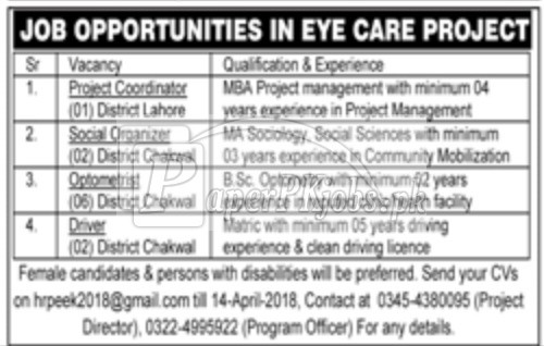 Care Project Jobs 2018