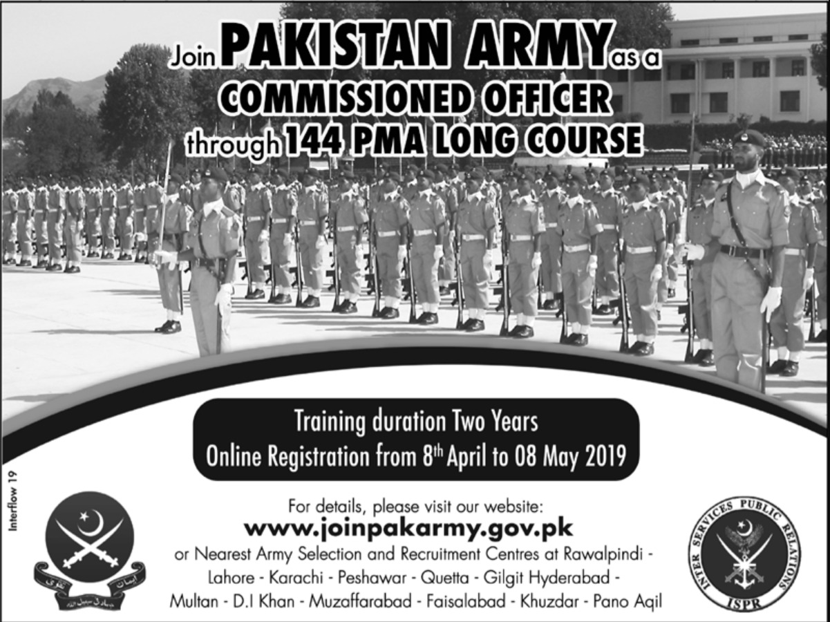 Join Pakistan Army as Commissioned Officer through 144 PMA Long Course