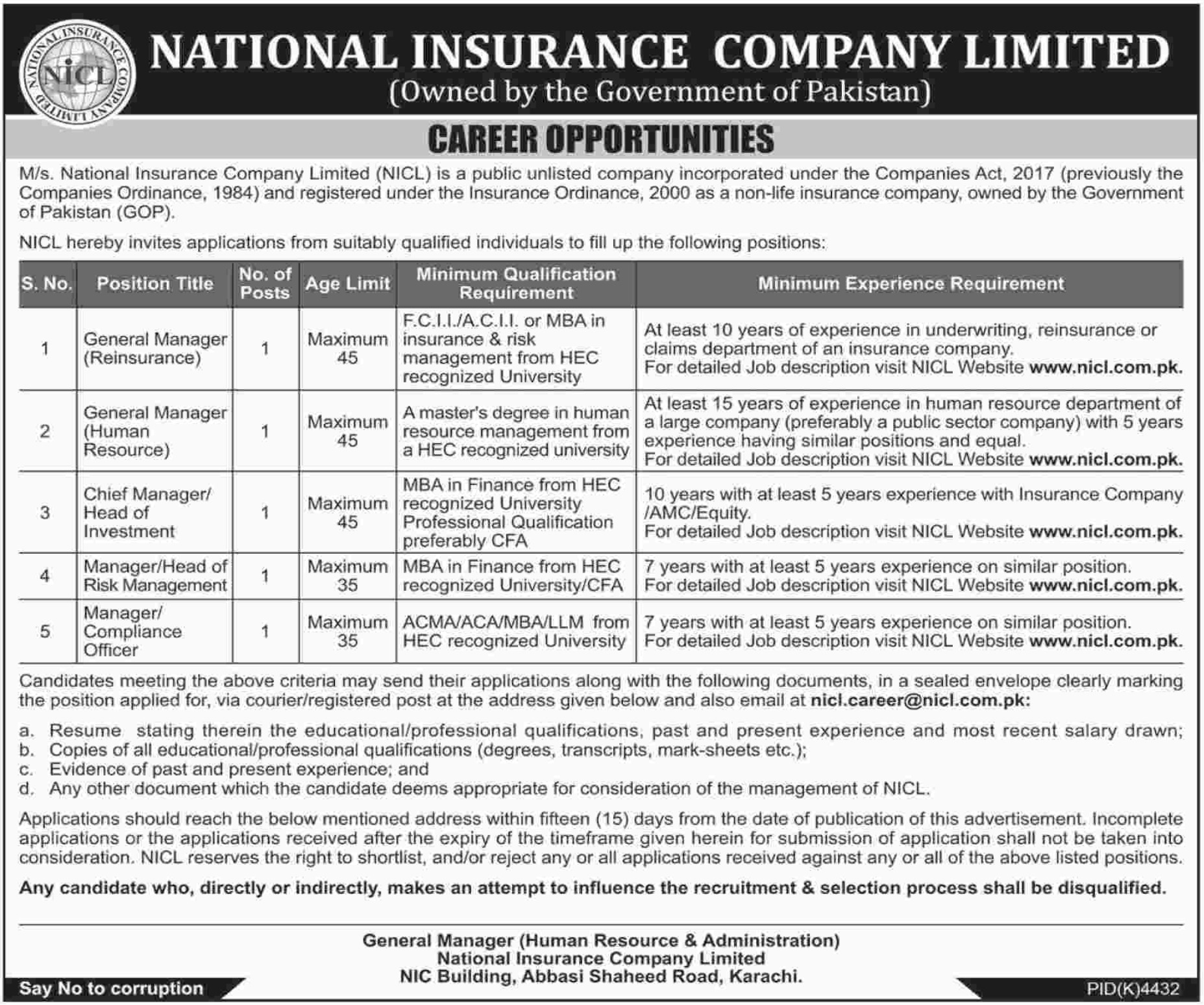 National Insurance Company Limited NICL Jobs 2019(1)