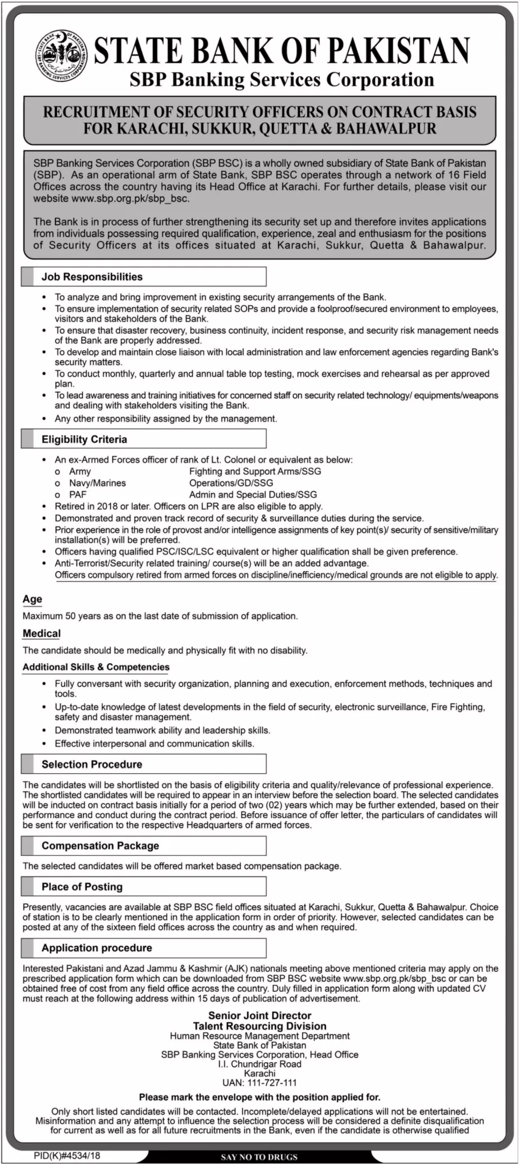 SBP Banking Services Corporation Jobs 2019 Security Officers