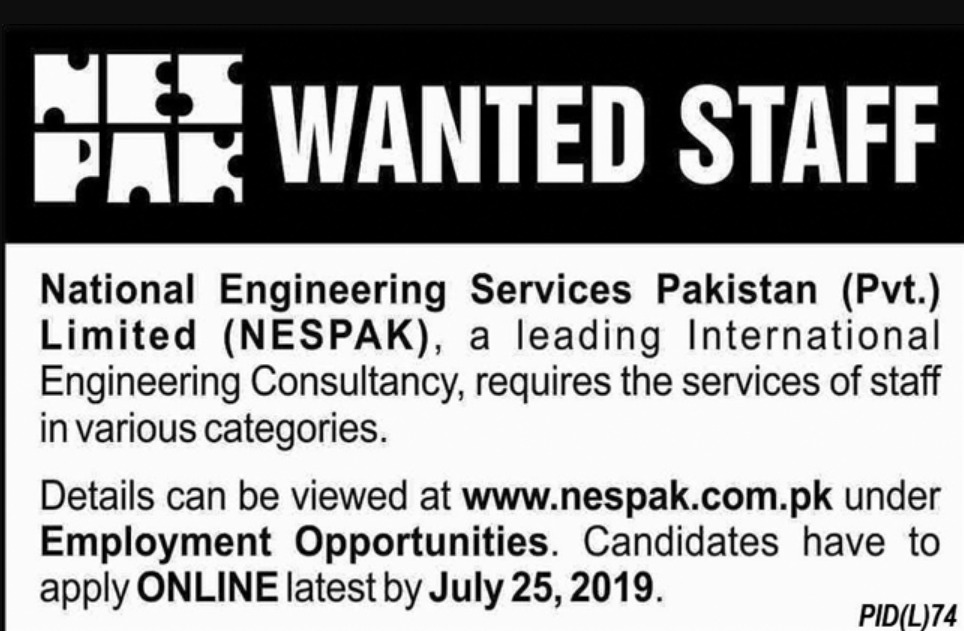 NESPAK Jobs 2019 Apply Online